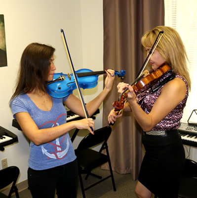 Professional Teachers with violin